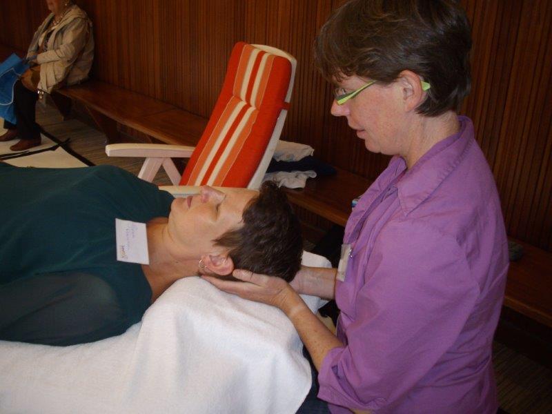 masseren tijdens beurs Beweging 3.0